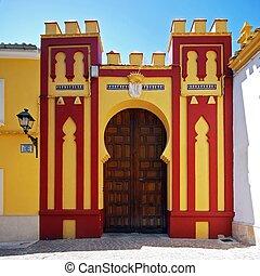 cabra, entrance., condes, palacio