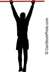 cabrate, silhouette, fondo, bianco, uomo