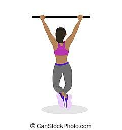 cabrate, workout., donna, bodybuilding, idoneità