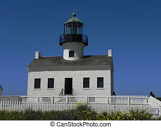 Cabrillo Lighthouse - Front - A front view of the Cabrillo...