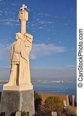Cabrillo national monument - Juan Rodriguez Cabrillo statue...