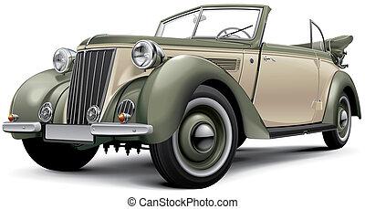 cabriolet, européen, luxe, prewar
