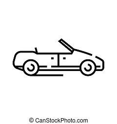 Cabriolet line icon, concept sign, outline vector illustration, linear symbol.