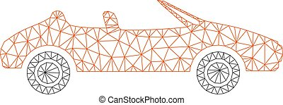 Cabriolet Polygonal Frame Vector Mesh Illustration - Mesh...