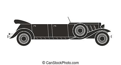cabriolet, vendemmia, collezione, retro, automobile, ...