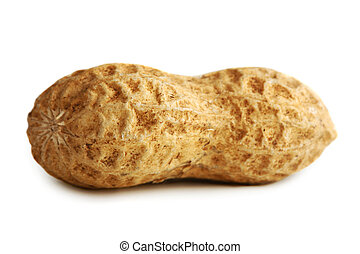 cacahuètes, blanc, isolé, fond