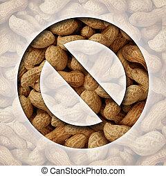 cacahuètes, non