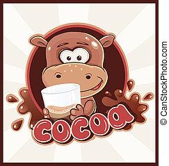 cacao, bevanda, ippopotamo