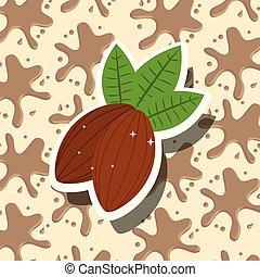 cacao, carte, chocolat
