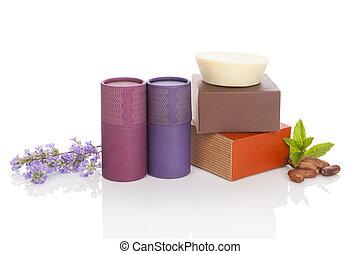 cacao, cosmetics., naturel, lavande
