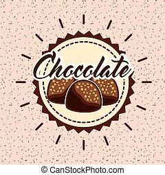 cacao, kaart, chocolade