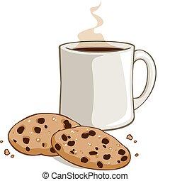 cacao, koekjes
