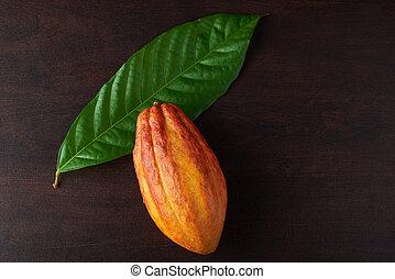 cacao, peul, blad