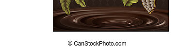 Cacao plant background - Cacao plant decorated frame on...