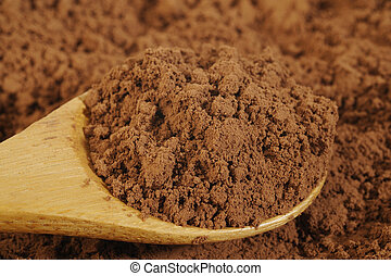 powder in wooden spoon