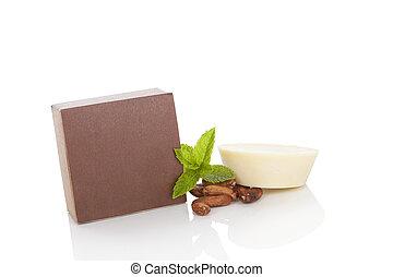 cacao, soap., cosmetics., naturel, masage