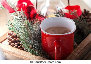 cacao, tazza, natale