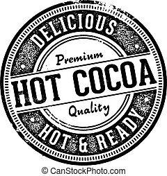 cacao, vendange, chaud, menu, signe