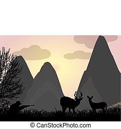 caccia, cervo