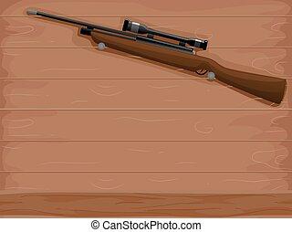 cacciatore, fucile