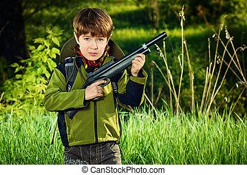 cacciatore, ragazzo