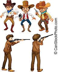 cacciatori, cowboy