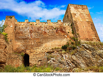 Caceres Baluarte de los Pozos bulwark in Spain at...