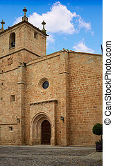 Caceres Concatedral Santa Maria church Spain