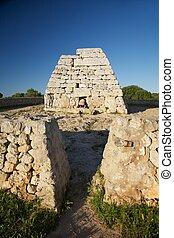 caché, femme, préhistorique, monument