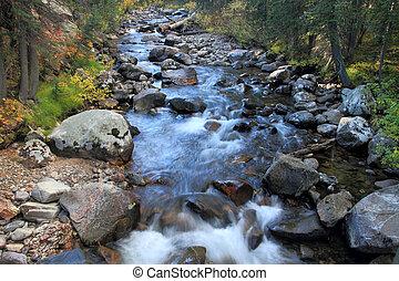 Cache La Poudre River rapids, northern Colorado