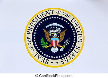 cachet, amérique, présidentiel, etats unis