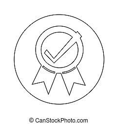 cachet, conception, certifié, illustration, icône