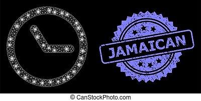 cachet, jamaïquain, détresse, incandescent, maille, horloge