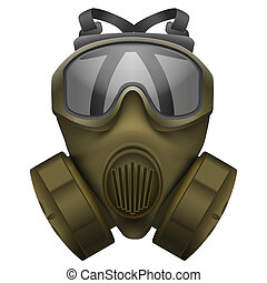 cachi, maschera antigas, respirator.