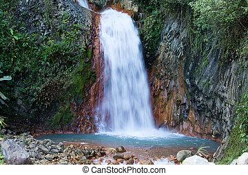 cachoeira, em, dumaguete, filipinas.