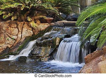 cachoeira, em, um, parque