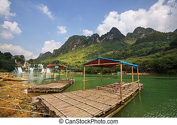 cachoeira, em, vietnã