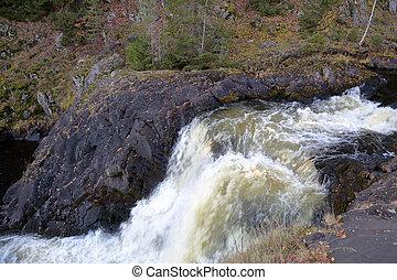 cachoeira, kivach, karelia, rússia