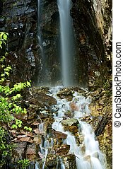 cachoeira, rochoso