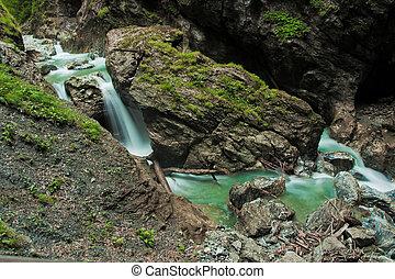cachoeira, verde, natureza