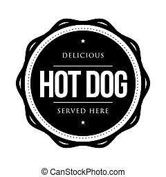 cachorro quente, vindima, vetorial