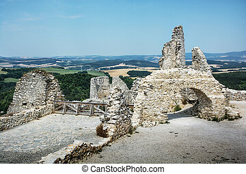 Cachtice castle, Slovak republic, central Europe,...