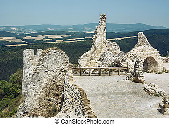 Cachtice castle, Slovak republic, central Europe, travel...