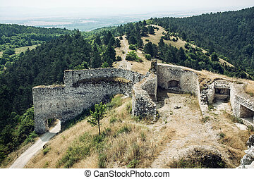 Cachtice castle, Slovak republic. The castle was a residence...