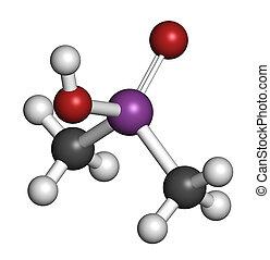 Cacodylic acid herbicide molecule (Agent Blue). Highly toxic...