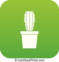 Cactaceae cactus icon digital green for any design isolated ...