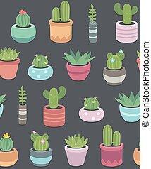 cacti pattern dark