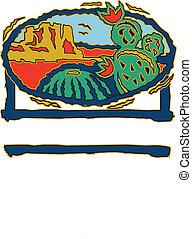 Cactie - Southwestern design featuring cactus, desert, ...