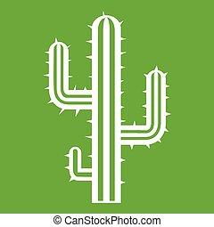 cacto, verde, ícone