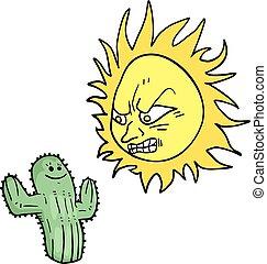 cactus and rebel sun - Creative design of cactus and rebel...